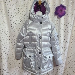 Converse Iredescent sideline down jacket sz M